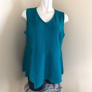Lane Bryant peplums textured tank top sz.22/24